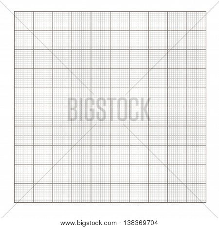 Square grid background. Blank millimeter. Vector. Gold line.