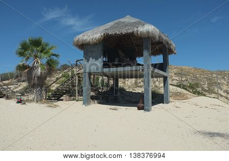 Palapa on beach, San Jose del Cabo, Baja California Sur, Mexico