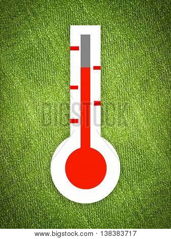 art thermometer on grunge green illustration background