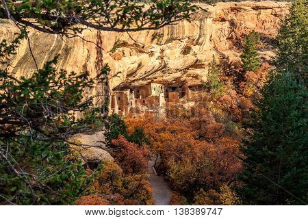 Mesa Verde National Park in the autumn