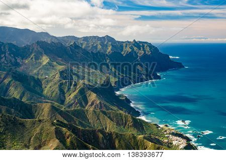 Anaga mountains and Atlatic ocean coast Tenerife Canary islands Spain