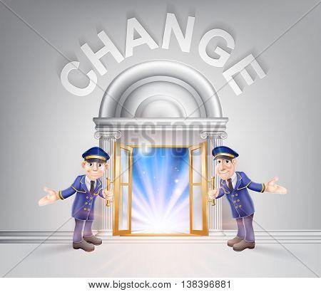 Door To Change And Doormen