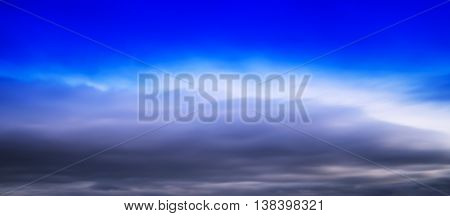 HORIZONTAL VERTICAL VIVID BLUE CLOUDSCAPE DRAMATIC CLOUDS BACKGROUND BACKDROP