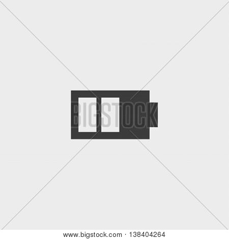 Phone battery icon in a flat design in black color. Vector illustration eps10