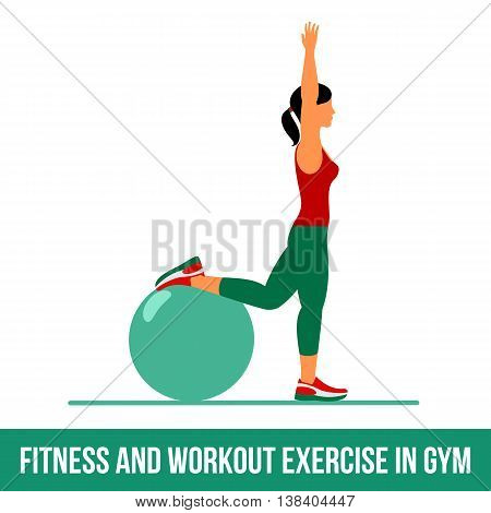 Aerobic Icons. Ball Exercise