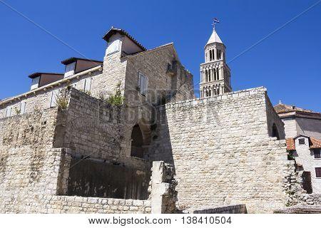 Cathedral of Saint Domnius and Diocletian Palace in Split Dalmatia Croatia