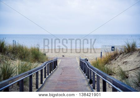 Rerik Steg path to the beach and sea
