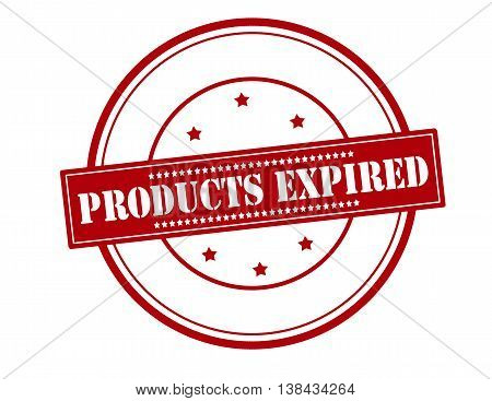 Rubber stamp with text products expired inside vector illustration