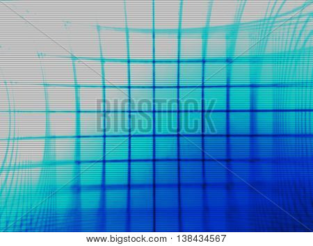 Horizontal Blue Vintage Tv Grid Illustration Background