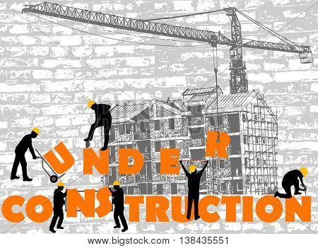 under construction concept - vector