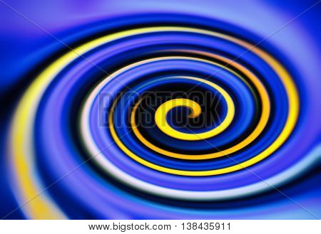 Blue yellow twirl digital abstraction background backdrop