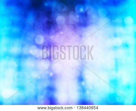 Horizontal Vivid Pink Purple Cyan White Snow Abstraction Bokeh B
