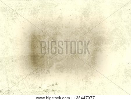 Horizontal Brown Sepia Film Plate With Dust Background