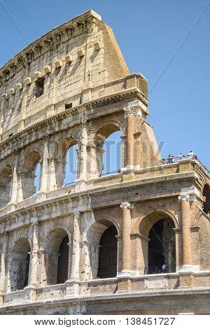 Colosseum - Landmark Of Rome, Italy.