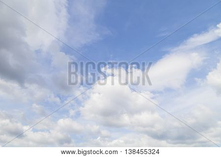Sky and cloud Good weather day background