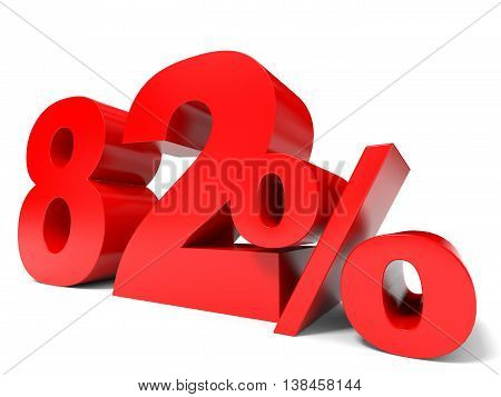 Red Eighty Two Percent Off. Discount 82%.
