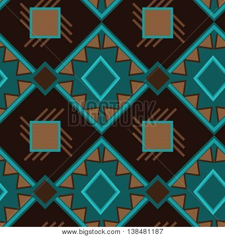 Ethno boho ornament. Ethnic seamless pattern. Tribal art print, tile background. Fabric design, wallpaper, wrapping