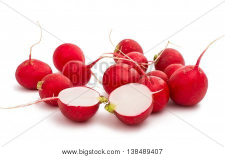 red radish  food isolated on white background