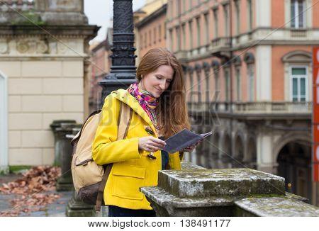 Girl At The Bologna Street
