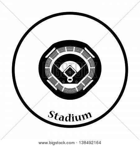 Baseball Stadium Icon