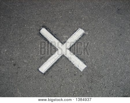 X marking the spot of John F. Kennedy's Assasination in Dallas Texas poster