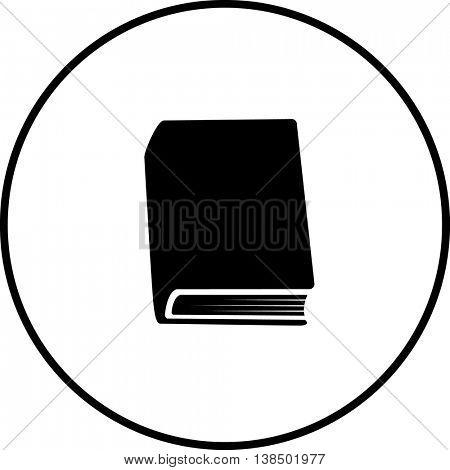 hardcover book symbol