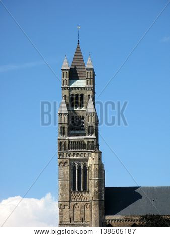Old Tower in the centre of Brugge, Belgium