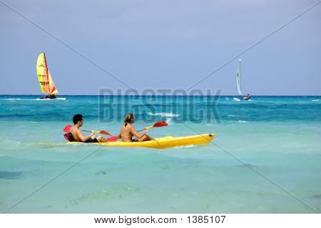 Water Recreation Sport At Tropical Beach