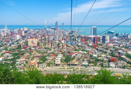 The ropeway of Batumi is the best choise to enjoy the city from the top and overlook its panorama from Anura Mount top Georgia.
