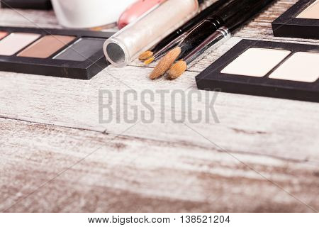 Cosmetics Brushes And Make Up Products