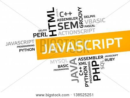 Javascript Word Cloud, Tag Cloud, Vector Graphic