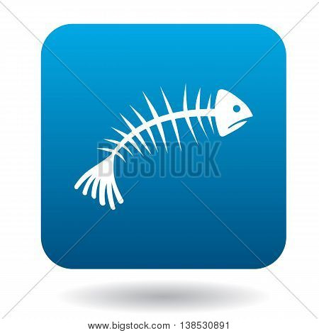Fishbone icon in simple style on a white background