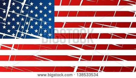 Tattered Flag Of United States Of America, Usa
