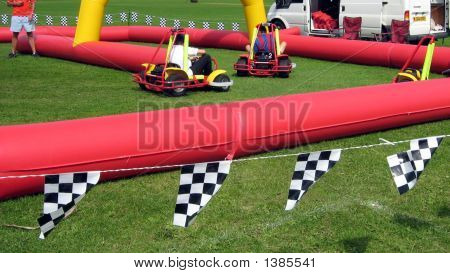 Children Playing Carting/Go-Carts,Children Racing