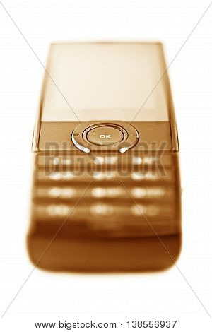 Photo Of Close Up Cellular Phone Isolated On White