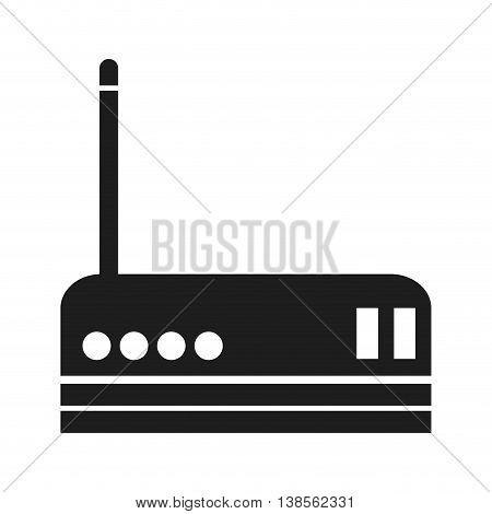 flat design wifi router icon vector illustration