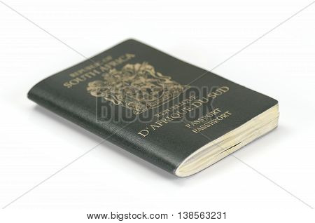 South African Passport on a white background
