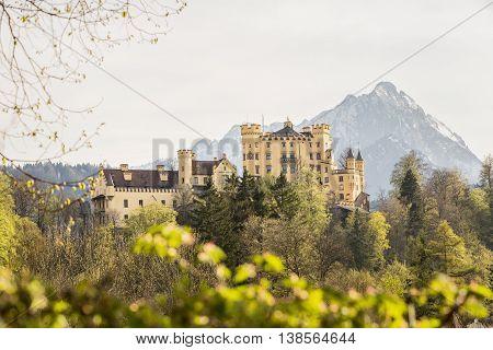 Amazing Hohenschwangau Castle in Bavaria German in spring time