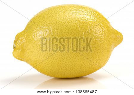 Close-up of a lemon on a white background