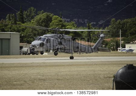 Black hawk rescue support team uh-60 helicopter land poster