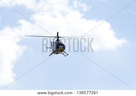 uh 1h rescue helicopter fly with crow Athens Greece Tatoi Airport