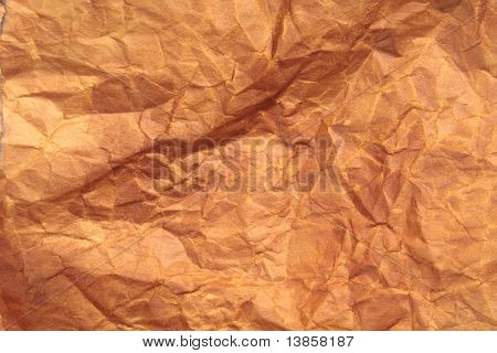 A photo of an old, crinkled paper
