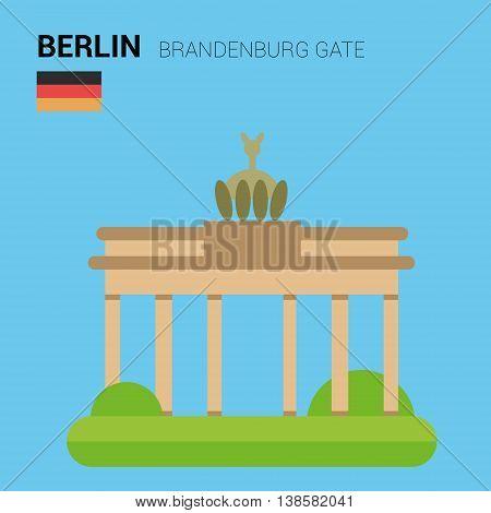 Monuments and landmarks Vector Collection: Brandenburg Gate. Descripción: Vector illustration of Brandenburg Gate (Berlin, Germany). Monuments and landmarks Collection. EPS 10 file compatible and editable.
