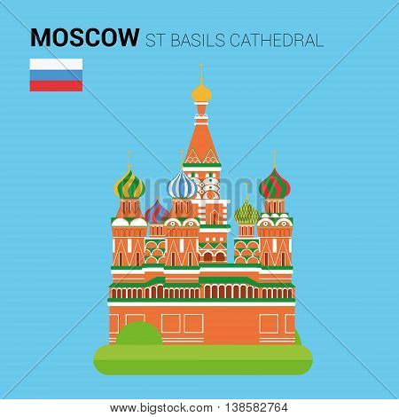 Monuments and landmarks Vector Collection: St Basils Cathedral. Descripción: Vector illustration of St Basils Cathedral (Moscow, Russia). Monuments and landmarks Collection. EPS 10 file compatible and editable.