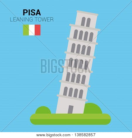 Monuments and landmarks Vector Collection: Leaning Tower of Pisa. Descripción: Vector illustration of Leaning Tower of Pisa (Pisa, Italy). Monuments and landmarks Collection. EPS 10 file compatible and editable.
