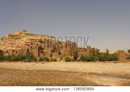 ancient city detail of ait benhaddou, morocco