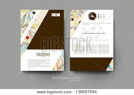 floral ornament vector brochure template. Flyer Layout. Creative modern design