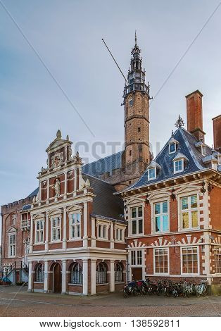 Haarlem City Hall on the Grote Markt built in the 14th century Netherlands