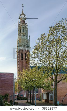 The Bakenesserkerk is a former church and seat of the local archeological workgroup in Haarlem Netherlands