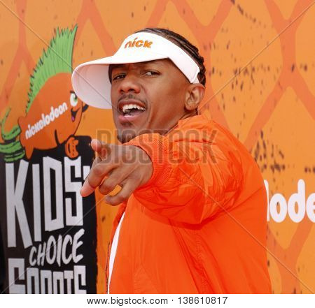 Nick Cannon at the Nickelodeon Kids' Choice Sports Awards 2016 held at the UCLA's Pauley Pavilion in Westwood, USA on July 14, 2016.